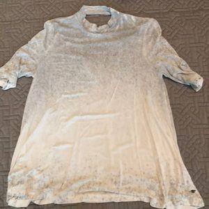 Open back ombré shirt